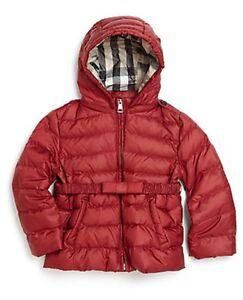 4418bda9bc8b NWT BURBERRY  295 Baby Girls Nova Check Down Kids Winter Coat Jacket ...