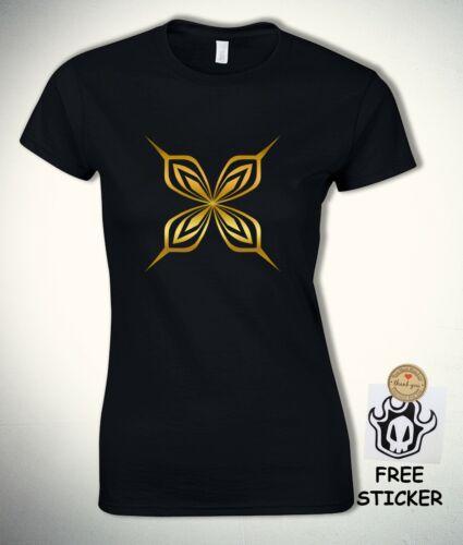 Bleach Womens T shirt Yoruichi Soifon Gold Butterfly Bankai Anime fashion Tee