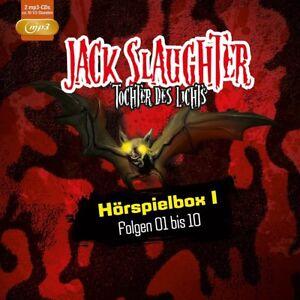 JACK-SLAUGHTER-TOCHTER-DES-LICHTS-HORSPIELBOX-I-FOLGE-01-10-2-MP3-CD-NEU