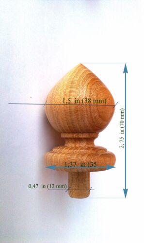 Wood Finial Post Craft  Wooden Furniture Cap Newel small 3 Finials Clock