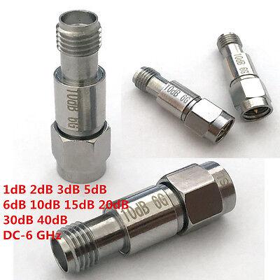 SMA Fixed Attenuator 40dB DC-6 GHz 2W