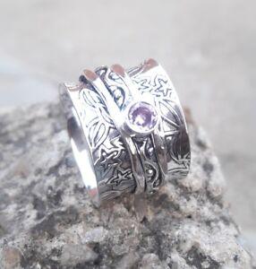 Rose-Quartz-Solid-925-Sterling-Silver-Spinner-Ring-Meditation-Ring-ee04