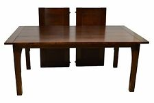L.&J.G. STICKLEY Mission Style Oak Dining Table 89-799 two leaves