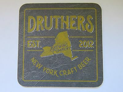 New York Est Intelligent Bier Untersetzer ~ Druthers Gär Co ~ ~ Saratoga Federn In 2012 Weder Zu Hart Noch Zu Weich