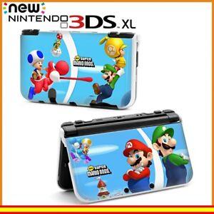 Funda-Protector-Nintendo-New-3DS-XL-Carcasa-Dibujos-Mario-y-Luigi