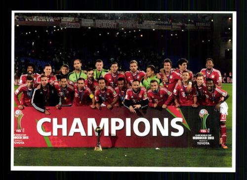 Bayern München Mannschaftskarte Weltpokalsieger Sieger 2013