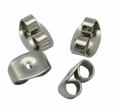 20 Stud Surgical Quality Stainless Steel Earring with 6mm Bezel for Flatback