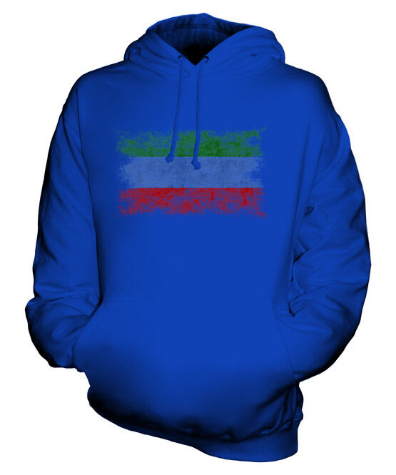 DAGESTAN DISTRESSED FLAG UNISEX HOODIE TOP FOOTBALL GIFT  CLOTHING JERSEY