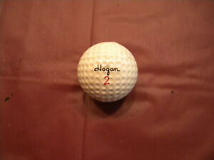 Details about Vintage Used HOGAN 2 Collectible Golf Ball