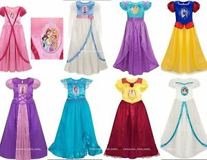Disney-All-Princess-Deluxe-Nightgown-Silky-Fancy-Costume-Dress-up-gown-U-Pick