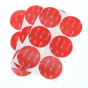 9x Double-Sided 3M VHB Self Adhesive Sticker Sticky Pads  50mm Round Clear