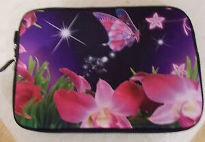 Laptop bag sleeve case 7034 for mini laptop with pattern butterflies and flowers - London, Hendon, United Kingdom - Laptop bag sleeve case 7034 for mini laptop with pattern butterflies and flowers - London, Hendon, United Kingdom