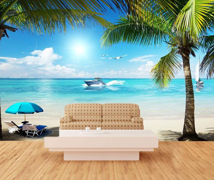 3D Beach Scenery 579 WallPaper Murals Wall Print Decal Wall Deco AJ WALLPAPER