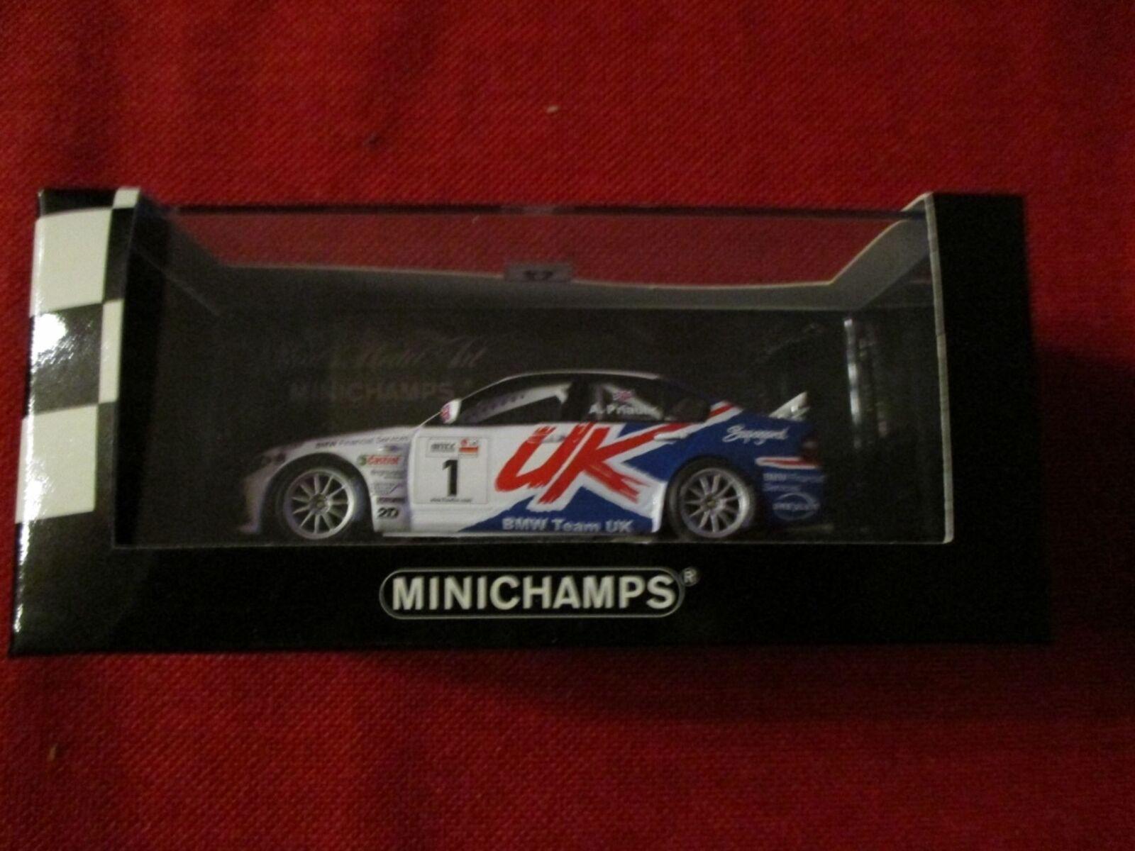 MINICHAMPS ® 400 052401 1 43 BMW 320i BMW Team UK WTCC 2005 Champion  A. Priaulx