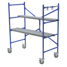 Portable Rolling Scaffold 4 Ft X 46 In X 3 Ft Adjustable Foldable Mason Frame