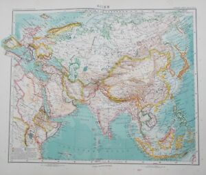 Map of asia1909 china india russia original stieler perthes image is loading map of asia 1909 china india russia original gumiabroncs Choice Image