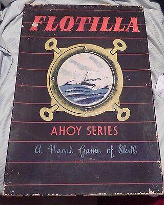 "Vintage 1947 Ahoy Series ""Flotilla"" Warship Game 100% Complete Contents MINT"