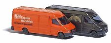 Busch N Scale 1/160 Mercedes Sprinter Van Set UPS and TNT