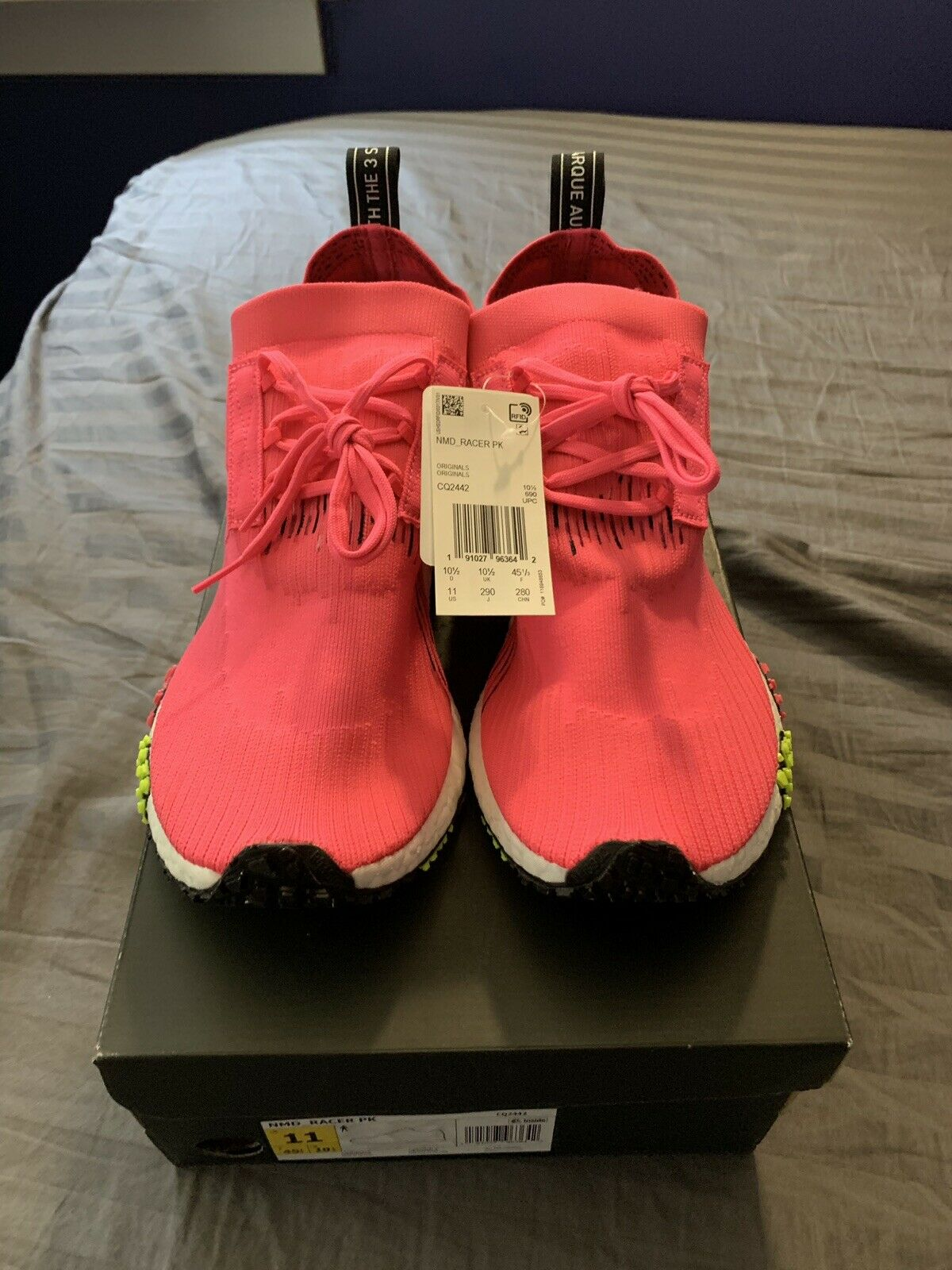 Adidas Originals Nmd Racer Pk Primeknit Boost Solar Pink Men Running shoes CQ2442