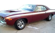 1973 1974 Plymouth Barracuda Side Body Stripes Kit 73 74 White