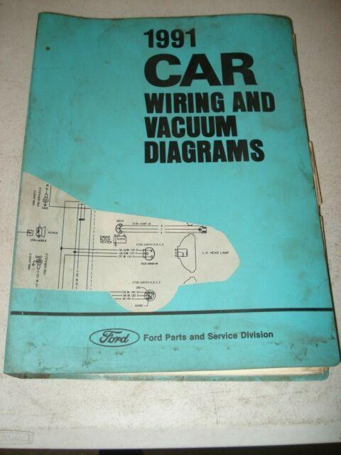 1991 Ford Car Wiring Diagrams Service Manual Mustang