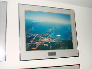 """Traverse City Aerial  Framed and Matted Picture 20""""h x 24""""w- Beautiful"""
