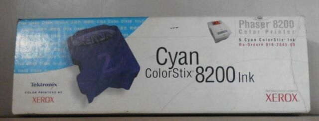 Tektronix  Xerox 016-2045-00  cyan ColorStix Phaser 8200 Ink 2 Sticks Anbruch
