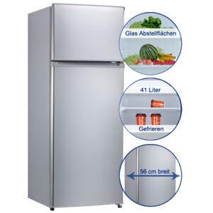 Kühl-Gefrierkombination Kühlschrank A++ Comfee CKO143A++s silber 55cm breit 166L