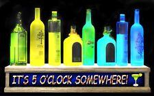 24 Lighted Liquor Bottle Display Shelf Its 5oclock Somewhere Led Bar Sign