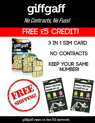 free sim cards with 5 credit