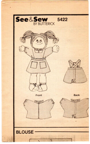 Choose Vintage 1980s Butterick See /& Sew CABBAGE PATCH KIDS Clothing UNCUT
