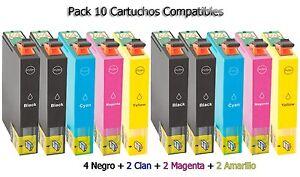 10-XL-tinta-cartuchos-para-Epson-wf2510wf-wf2520nf-wf2530wf-wf2540wf-set