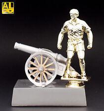 Kanone Pokal Fußball Torjägerkanone mit Fußballerfigur inkl.Gravur, Ehrenpreis