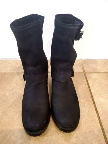 Frye Boots Natalie Mid Engineer Black Women's 10