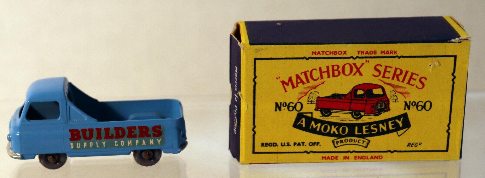 oferta especial DTE Lesney Matchbox Matchbox Matchbox Regular ruedas 60-1 Rojo blancoo Calcomanía constructores de suministro Gpw California  descuento de bajo precio
