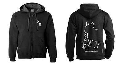 Exclusive Dogeria Design New Varieties Are Introduced One After Another French Bulldog Lovely French Bulldog Full Zipped Dog Breed Hoodie