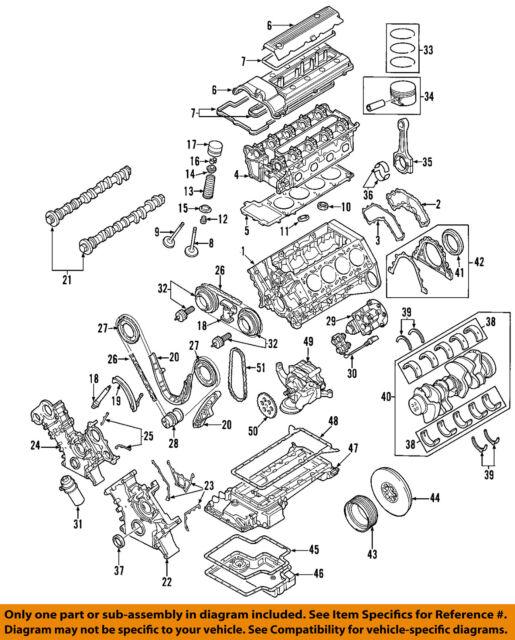 bmw s62 5 0l v8 vanos valve timing gear pair intake exhaust 2000 rh ebay com