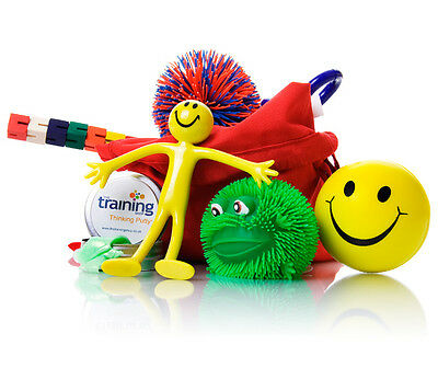 Childrens Kids Fiddle Sensory Toy Stress Buster Relief Stretchy Smiley Men
