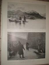 SHAN HAI KWAN Cina & l'esecuzione di Duc d'enghien 1899 VECCHIE STAMPE