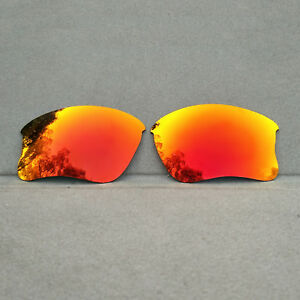 Orange-Red-Mirrored-Polarized-Replacement-Lenses-for-Oakley-Flak-Jacket-XLJ