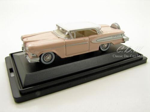 Oxford 1958 Edsel Citation Chalk Pink//White Die-Cast Metal Car 1//87 HO Scale