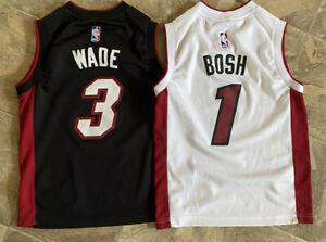 Nba Adidas Chris Bosh Dwayne Wade Miami Heat Kid Jersey Size Youth Small Lot 2 Ebay
