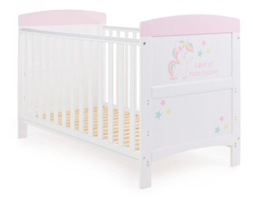 Obaby GRACE INSPIRE COT BED Baby Child Nursery Furniture Unicorn BN