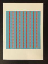 Tess Jaray, 'Nine espinas de artista Tarjeta Promocional, 2016.