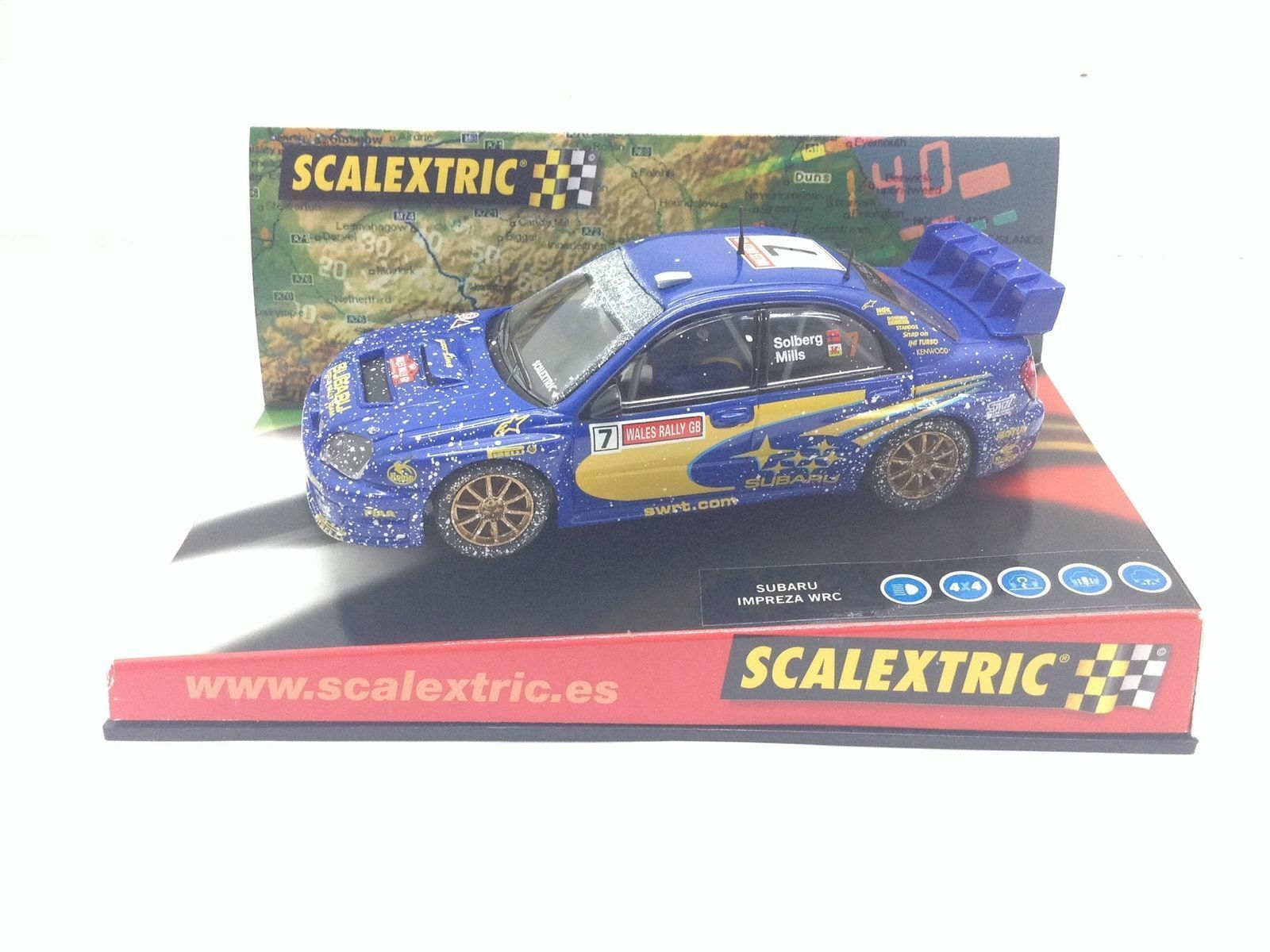 6149 Subaru Impreza WRC Effekt Schnee 1 32 Scalextric Neu