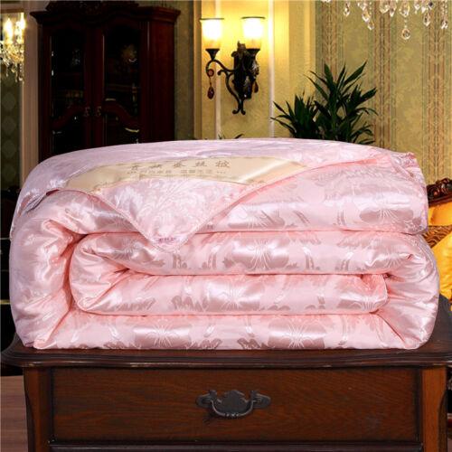 100/% Silk Filled Comforter Quilt Duvet Blanket Coverlet Twin Full Queen King G46