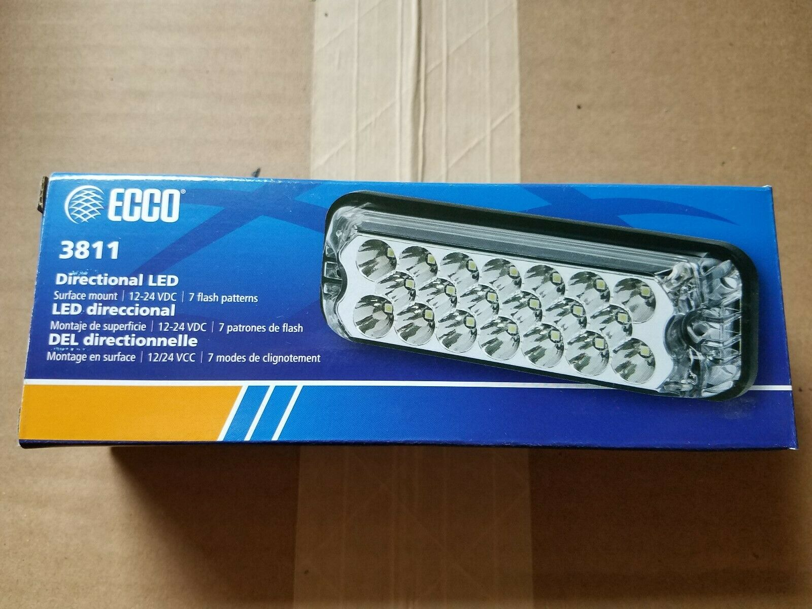 Warning Light Directional LEDs SAE Class II Surface Mount ECCO 3735A