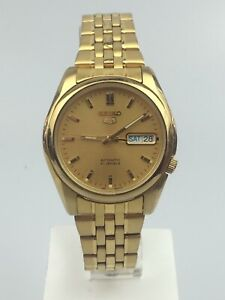 Seiko 5 Automatic Gold PVD Stainless Steel Men's Watch SNK366K1