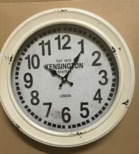 CLOCK ANTIQUE STYLE VINTAGE METAL HOME DECOR KENSINGTON LONDON EST 1879