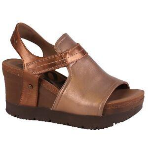 020ee748e Women's OTBT WAYPOINT New Gold Sticking Strap Wedge Sandals Shoes | eBay
